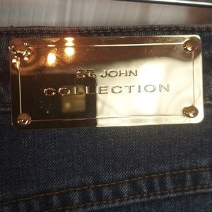 ST. JOHN Marie High Rise Cropped Jeans Sz 8